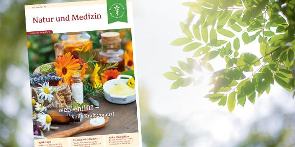 Aktuelle Ausgabe der Mitgliederzeitschrift von Natur und Medizin
